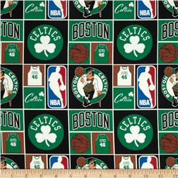 NBA Cotton Broadcloth Boston Celtics Multi Fabric