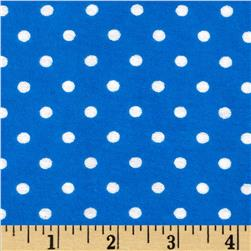 Aunt Polly's Flannel Small Polka Dots Blue/White