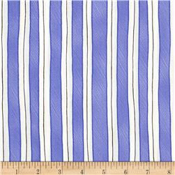 Somerset Happy Trails Stripes Bluebell Fabric