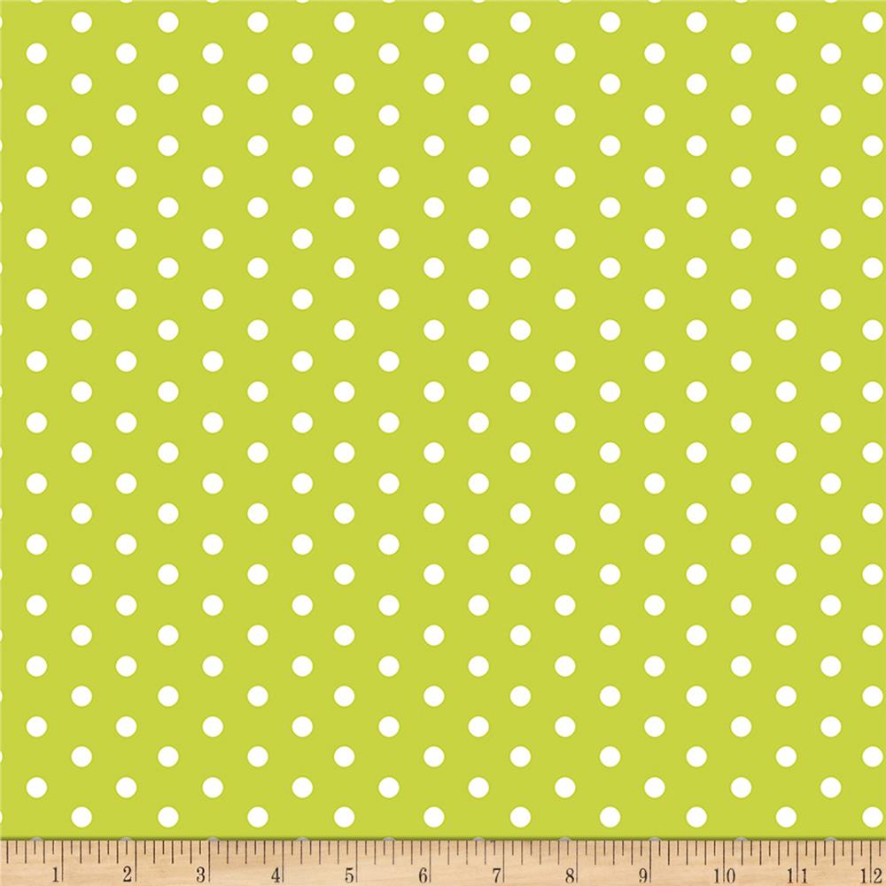 Bolt By Girl Charlee Pure Vintage Jersey Knit Dot Bright Chartreause