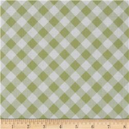 Tanya Whelan Sunshine Roses Gingham Green