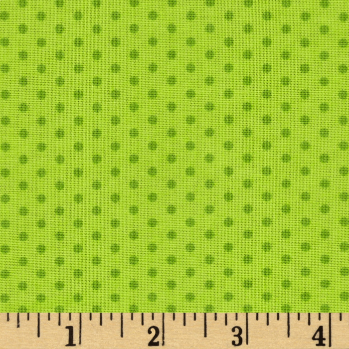 Kaufman Spot On Pindot Chartreuse Fabric