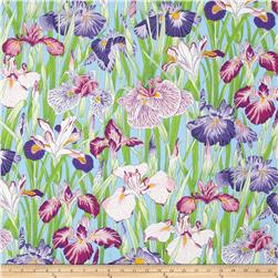 Snow Leopard Designs Floating World Japanese Irises Serenade