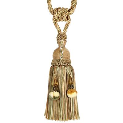 "Fabricut 33"" Decadence Single Tassel Tieback Midas"