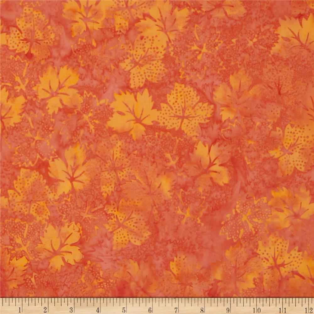 Bali Batiks Dotty Leaves Halloween