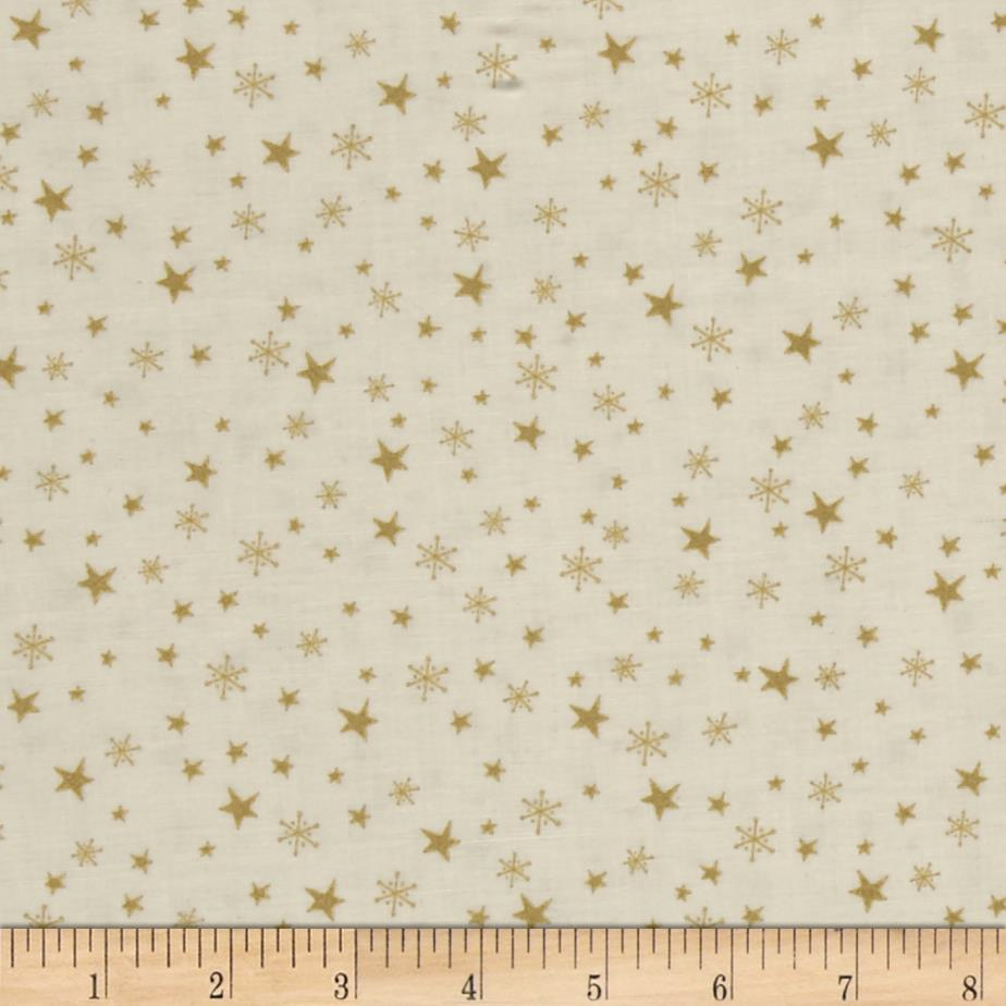 Metallic Christmas Stars and Snowflakes Metallic Cream
