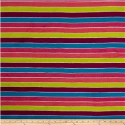 Polar Fleece Rainbow Stripes