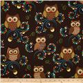 Michael Miller Norwegian Woods Happy Hooters Owls Forest