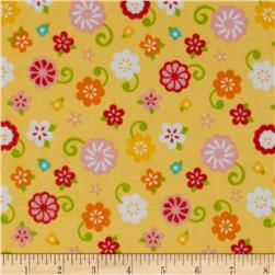 Riley Blake Flannel Simply Sweet Flower Yellow