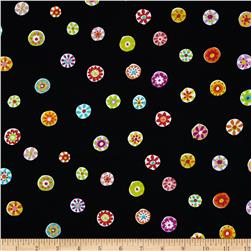 Micheal Miller Melodies Folk Floral Dot Black