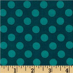 Michael Miller Ta Dot Teal Fabric