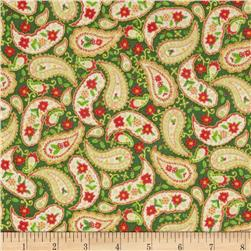Season's Greetings 2013 Holiday Paisley Green