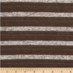 Yarn Dyed Hatchi Knit Stripes Brown/Oat