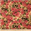 Resting in Roses Skulls & Roses Tea Stained