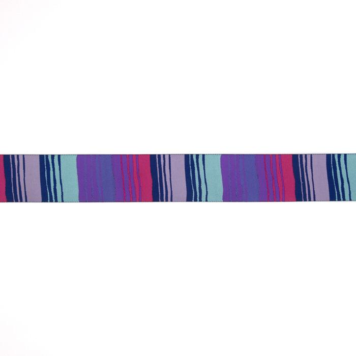 "1-1/2"" Kaffe Fassett Phase Stripes Ribbon Blue/Purple"
