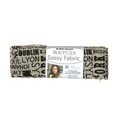 Red Heart Boutique Sassy Fabric Newsprint