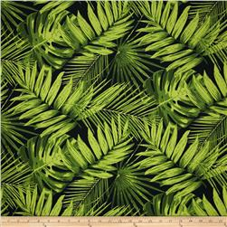 Terrasol Indoor/Outdoor Tropical Fronds Ebony Fabric