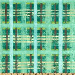 Michael Miller Magnolia Lane Textured Plaid Turquoise