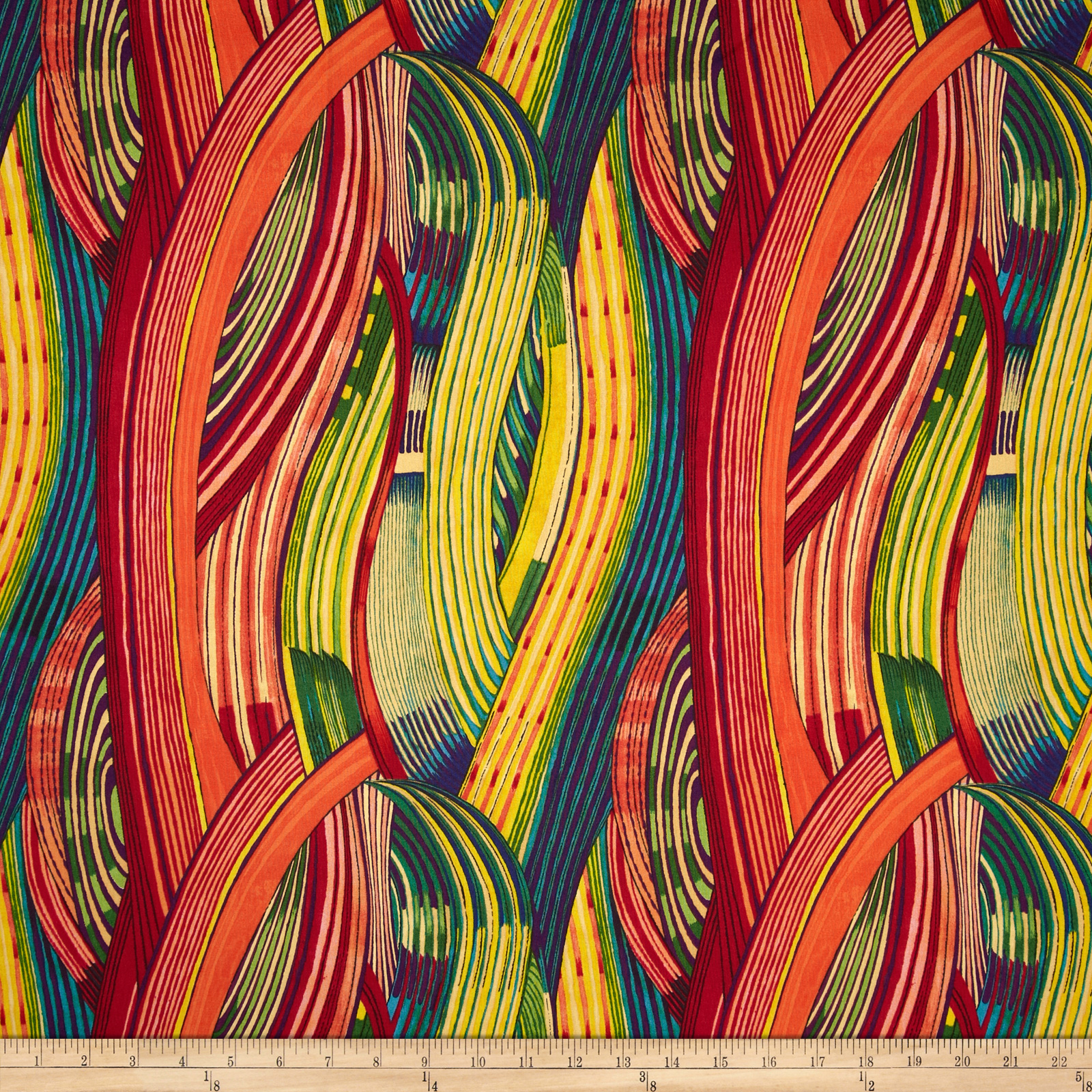 Africa Mashama Stripe Red Fabric