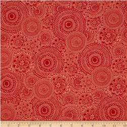 Dream Boats Floral Medallion Orange