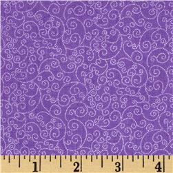 Timeless Treasures Fairy Tale Mini Scroll Purple