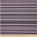 A.E. Nathan Chevron Pink/Black/Grey