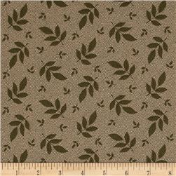 Hannah's Heritage Tossed Leaf Green Fabric