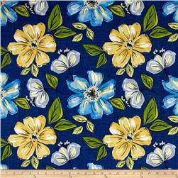 Tempo Indoor/Outdoor Floral Cobalt Blue