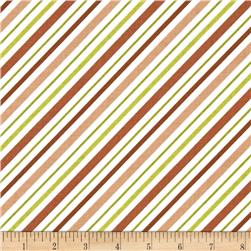Riley Blake Happy Camper Stripe Brown