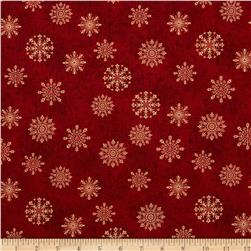 Tis The Season Snowflake Medallions Red/Ivory