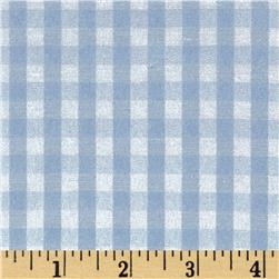 Cotton Blend Woven 1/4'' Gingham Blue