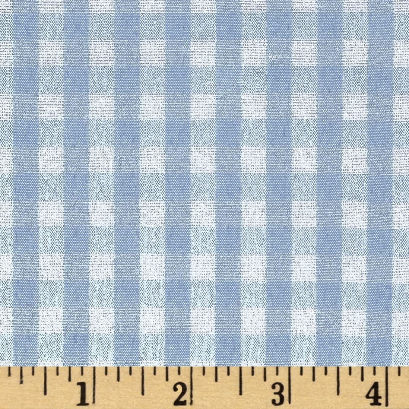 60'' Cotton Blend Woven 1/4'' Gingham Blue Fabric