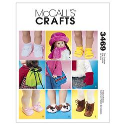 "McCall's 18"" Doll Accessories Pattern M3469 Size OSZ"