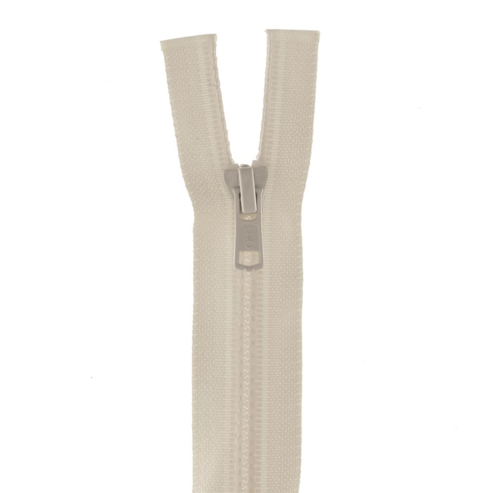 "Coats & Clark Medium Weight Molded Separating Zipper 16"" Natural"
