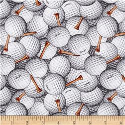 Game On Packed Golf Balls White/Grey Fabric