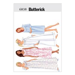 Butterick Misses'/Misses' Petite Nightgown Pattern B6838 Size LRG
