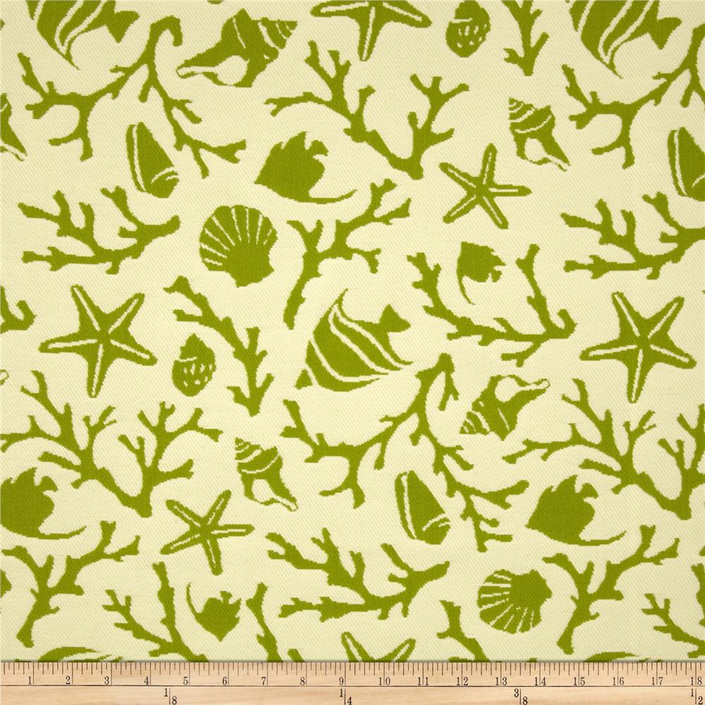 Bella Dura Eco-Friendly Indoor/Outdoor Sanibel Jacquard Green