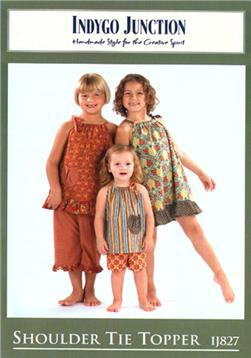 Indygo Junction Girls Shoulder Tie Topper Pattern