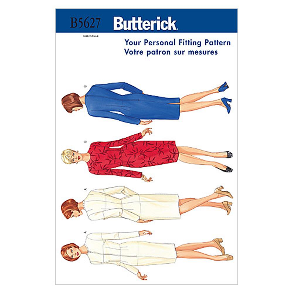 Butterick Misses' Fitting Shell Pattern B5627 Size 100
