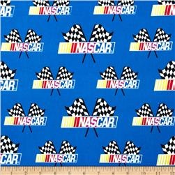 Nascar Allover Nascar Flags Blue