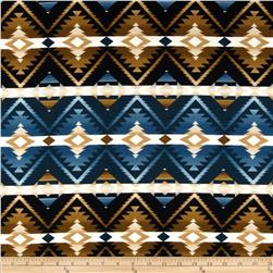 Wonder of Winter Flannel Aztec Blue