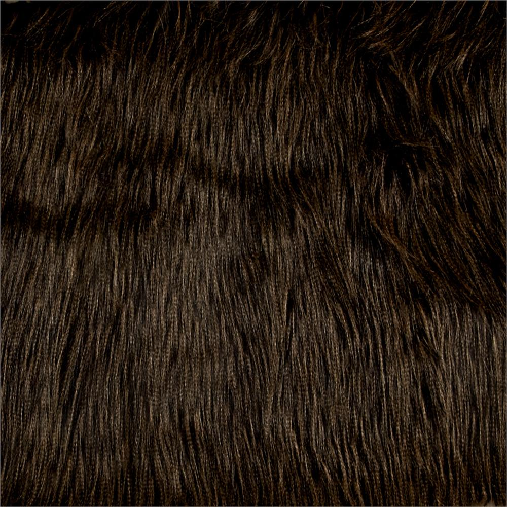 Luxury Faux Fur Fancy Ostrich Black