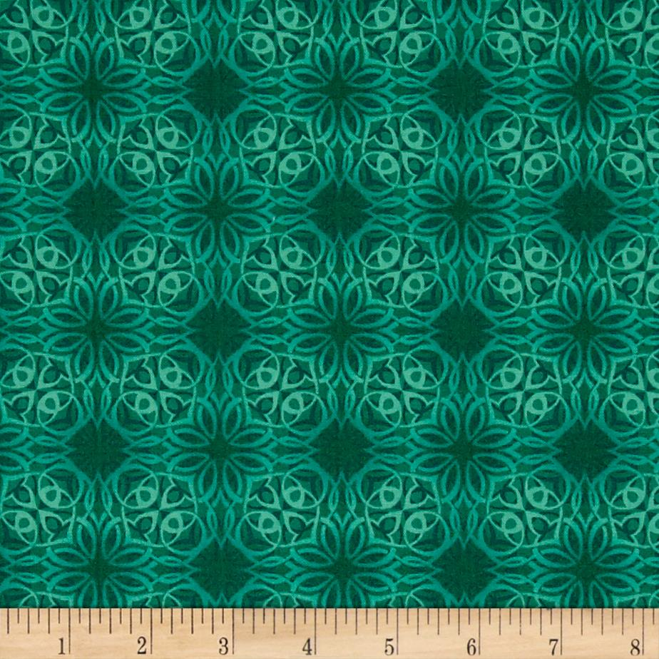 Treasures of nature under the sea geo tonal green for Green fabric