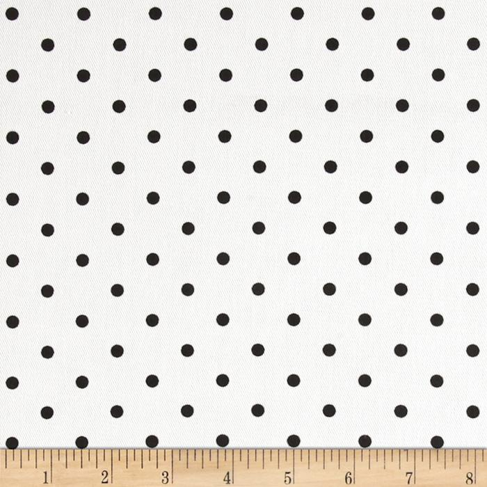 Premier Prints Mini Dots Twill White/Black