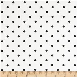 Premier Prints Mini Dot Twill White/Black