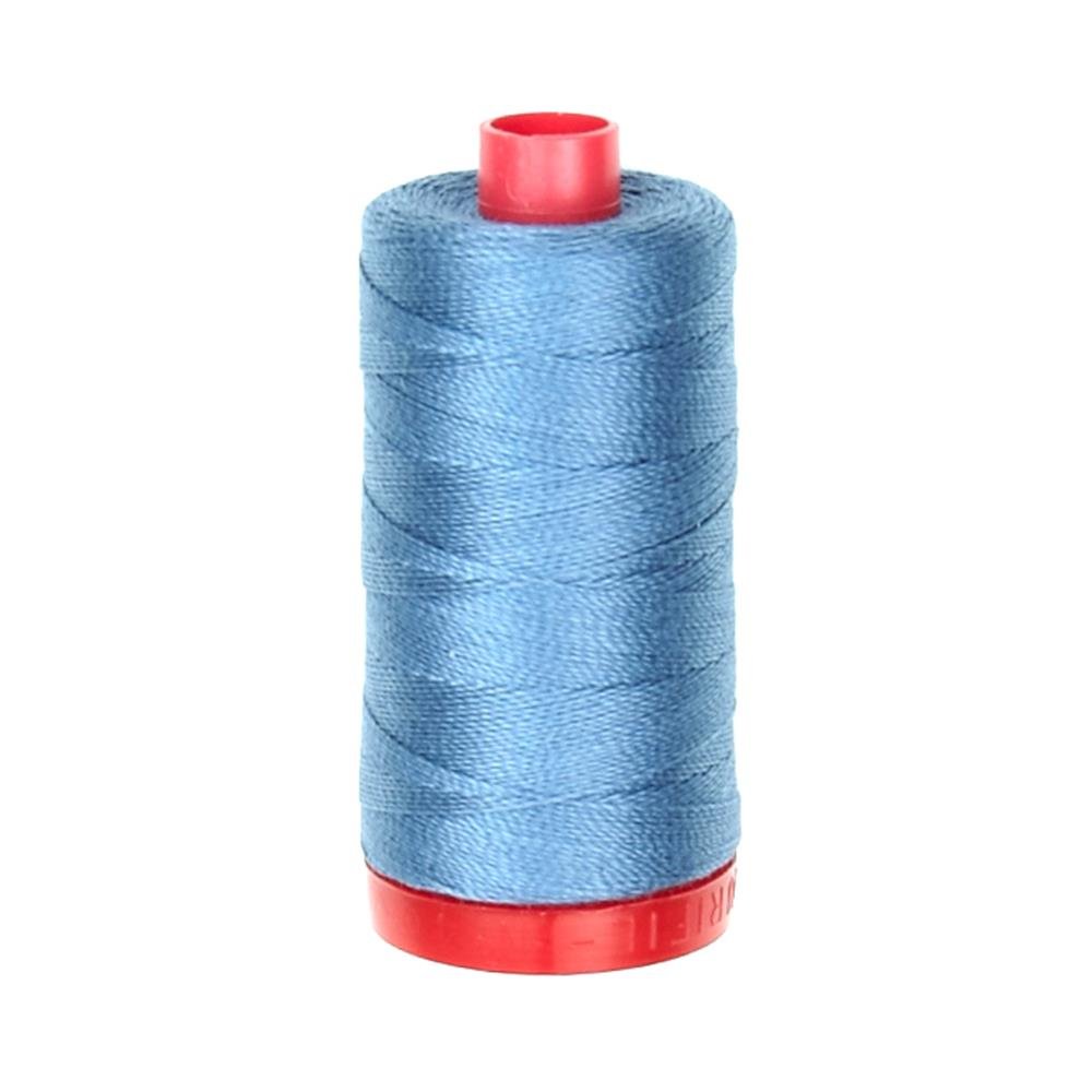 Aurifil 12wt Embellishment and Sashiko Dreams Thread Blue Grey