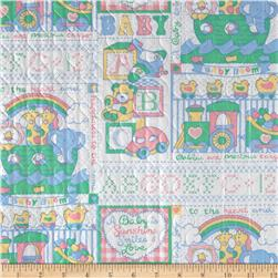 Quilted Vinyl Baby White/Pastel Fabric