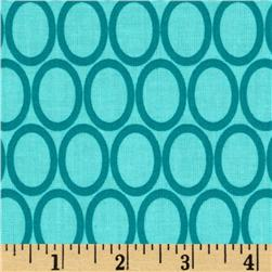 Remix Ovals Water Aqua Fabric