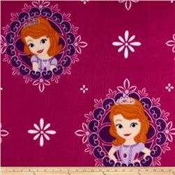 Disney Fleece Sofia the First Dark Magenta