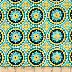 Riley Blake La Vie Boheme Medallion Sparkle Teal
